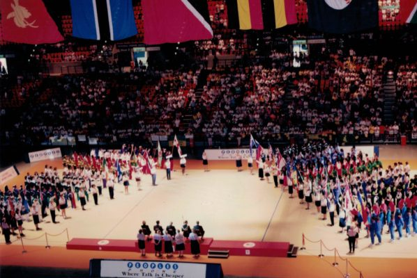 All the teams lined up at the Closing Ceremony | Niels Carruthers