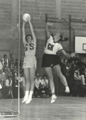 Gill Bickerstaff shooting against NZ defence
