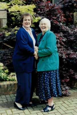 Cheryl Dewhirst and Jean Bourne, President