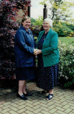 Mary Beardwood with Jean Bourne, President