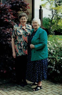 June Jack with Jean Bourne, President