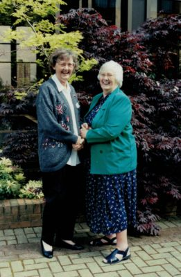 Gwen Foster with Jean Bourne, President