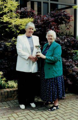 Margaret Whittaker with Jean Bourne, President