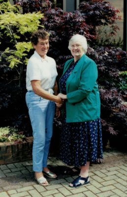 Anne Stephenson with Jean Bourne, President