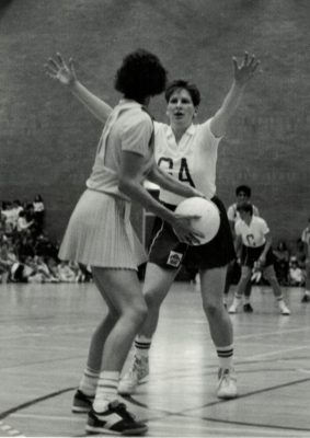 Karen Fenlon (GA) defending the pass out