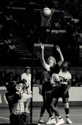 Helen Cadman shooting. Helen Watt England umpire   Doug McKenzie