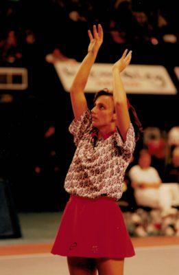 Louise Sheridan warming up her shooting practice
