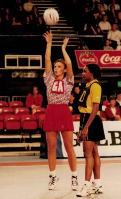 Luoise Sheridan (GA) with a penalty shot