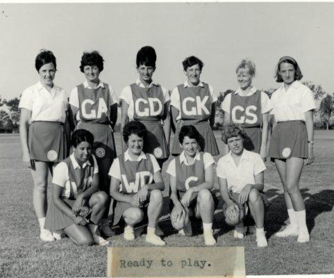 North of England Team. Back Row;  Rose Foster (Lancs), Brenda Ansell (Capt & B'ham), Betty Galsworthy (Warks), Joyce James (Warks),Brenda Young (Warks), Celia Bland (Lancs). Front Row;  Brenda Pashby (Lancs), Gerry Harper (N/land), Beryl Finney (Vice Capt & Lances), Pat Turner (Lancs).