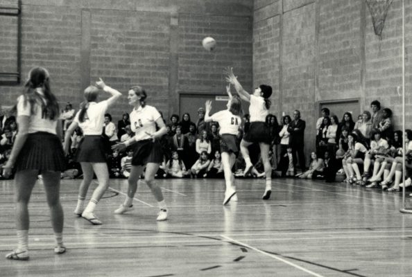 England v The Rest with Lesley Darby (GD), Margo Muller (GK) and  for England Helen Squires (WA)