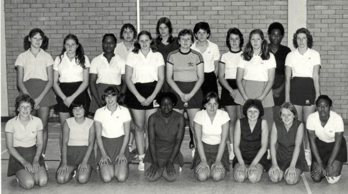 The East Region CENTEX Squad 1978/79 Front Row L to R: Cathy Woods, ??, ??, ??, Ann Dose,, ??, ??, Maureen ?? Back Row:: ??, Ann ?, Desi Mahoney, ??, ??, Jane Suffolk, Kim Hasted, ??, Linda Dyer, Anne Ginbey, Sonia Rodney, Gill White