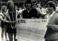 1990 East v Australia, 15th November, Hemel Hempstead Sports Centre, and sponsor Thomas Cook