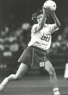 Kendra Lowe (now Slawinski) intercepting | Eileen Langsley
