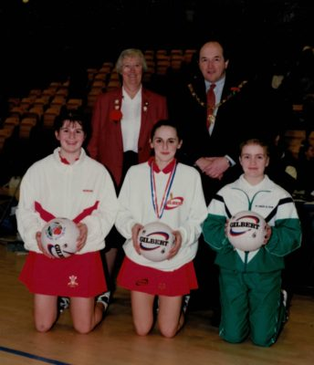 England winners, Wales second and Northern Ireland third, with Jean Bourne.