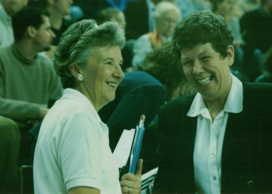 Joan Mills and Liz Broomhead in discussion
