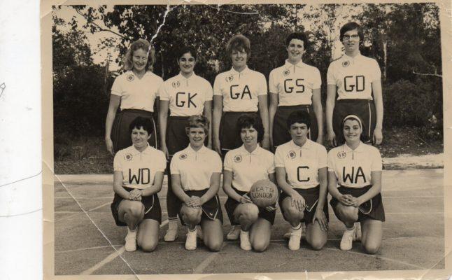 Back row - Margaret Moore, Jane Manser, Sally Dewhurst, Helen Mitchell, Catherine Young. Front Row - Pam Sewell, Sue Davies, Jean Heath, Maureen Lee, Angela Gearon