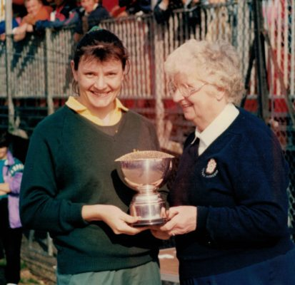 Surrey Division 1 winners, Sheila Hartley and Pat Taylor | Sandra Smith