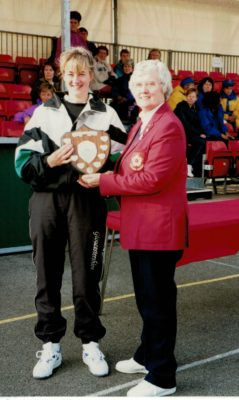 Division 3 winners - Gloucestershire presented by Jean Bourne