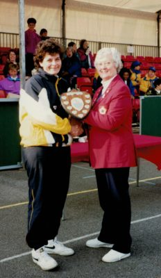 Division 3 winners - Suffolk presented by Jean Bourne