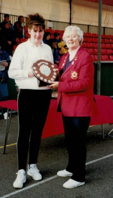 Division 5 winners - Wiltshire presented by Jean Bourne
