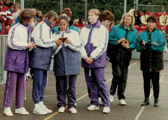 Essex Met Jillean Hipsey, Pat Sweeny, Sam Bird and Justine Saunders with East Essex Pat Watson coach