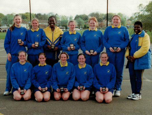 Under 21 Runners-up with their coach June Griffith, far right