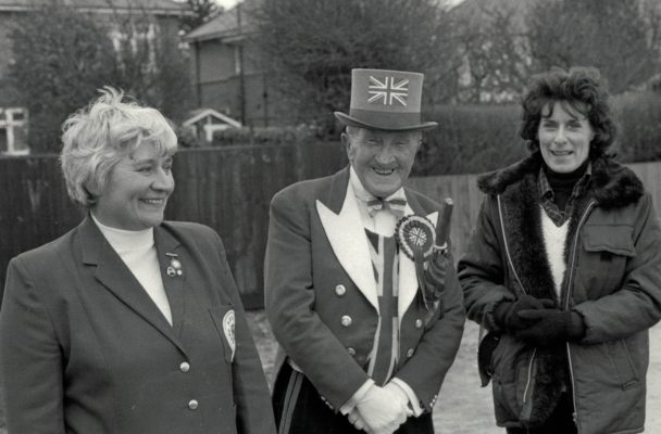 Lilley McGurk (left), Ken Baily, supporter of all teams England, and Irene Beagles.