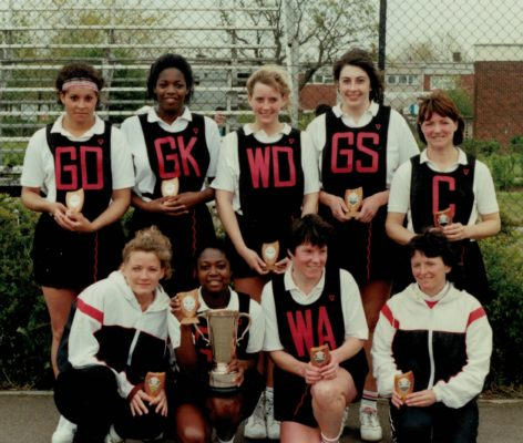 Harborne Squad National Clubs winners;  Back row: Sharon Bent, ..........  Front row: ???, Joan Bryan, ..... | Bill Hickey