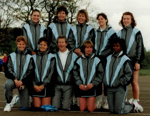 Runners-up Aquila Squad.  Back row second from left Cathy Hickey