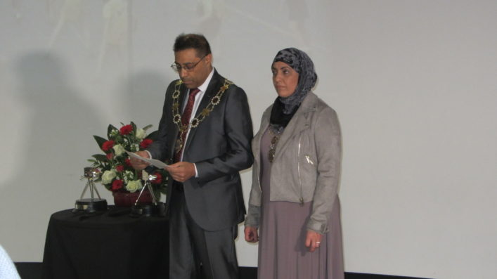 Councillor Mumtaz Hussain, Deputy Mayor of Kirklees and his wife Noreen Hussain, Deputy Mayoress.