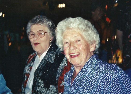 Margaret Cassidy (front) with Margaret Thompson