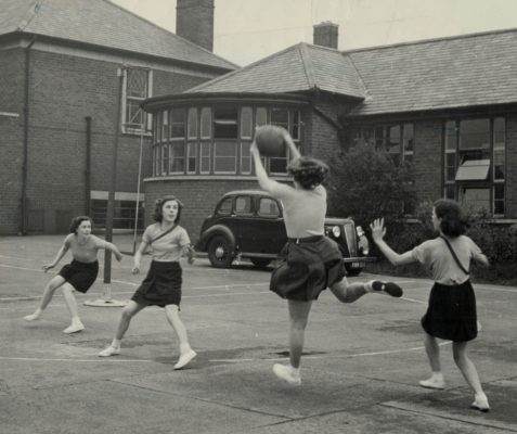1957 Match at St Aidan's R.C. Secondary Modern School, Willington Quay, Northumberland