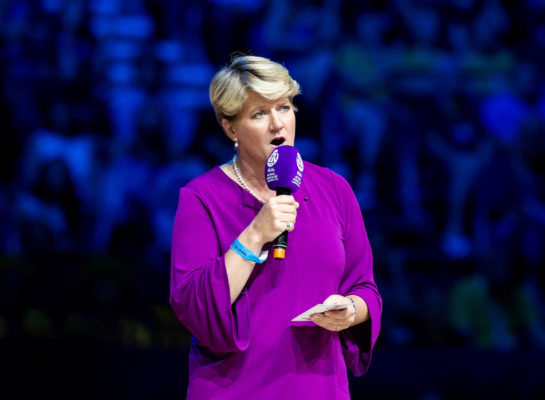 Picture by Allan McKenzie/SWpix.com - 21/07/2019 - Netball - Vitality Netball World Cup Final- Australia v New Zealand - M&S Bank Arena, Liverpool, England - Clare Balding.