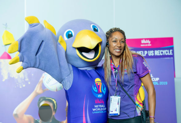 Picture by Allan McKenzie/SWpix.com - 20/07/2019 - Netball - Vitality Netball World Cup - M&S Bank Arena, Liverpool, England - Jude. | SWpix.com