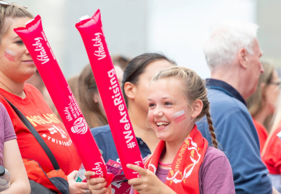 Picture by Allan McKenzie/SWpix.com - 20/07/2019 - Netball - Vitality Netball World Cup - M&S Bank Arena, Liverpool, England - Vitality, branding, fans. | SWpix.com