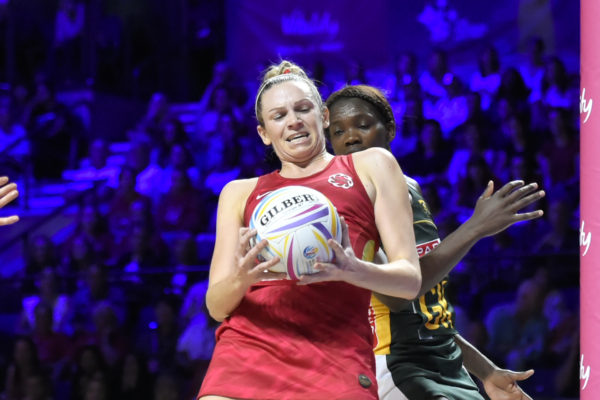 Picture by Allan McKenzie/SWpix.com - 21/07/2019 - Netball - Vitality Netball World Cup 2019 bronze medal match - England v South Africa - M&S Bank Arena, Liverpool, England - Joanne Harten of England. | SWpix.com