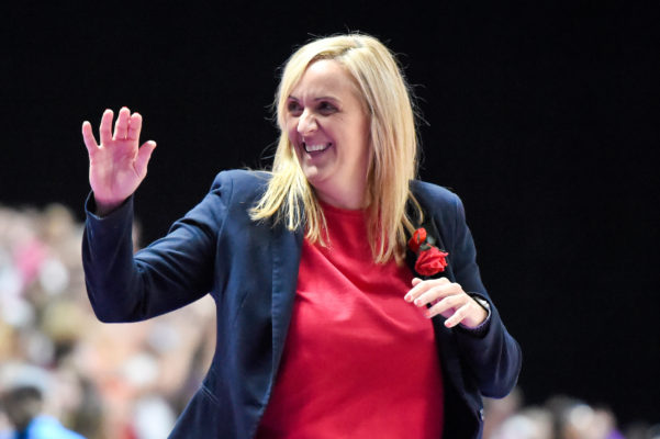Picture by Allan McKenzie/SWpix.com - 21/07/2019 - Netball - Vitality Netball World Cup 2019 bronze medal match - England v South Africa - M&S Bank Arena, Liverpool, England - Head coach of England, Tracey Neville. | SWpix.com