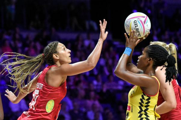 Picture by Allan McKenzie/SWpix.com - 12/07/2019 - Netball - Vitality Netball World Cup - England v Uganda - M&S Bank Arena, Liverpool, England - Geva Mentor of England. | SWpix.com