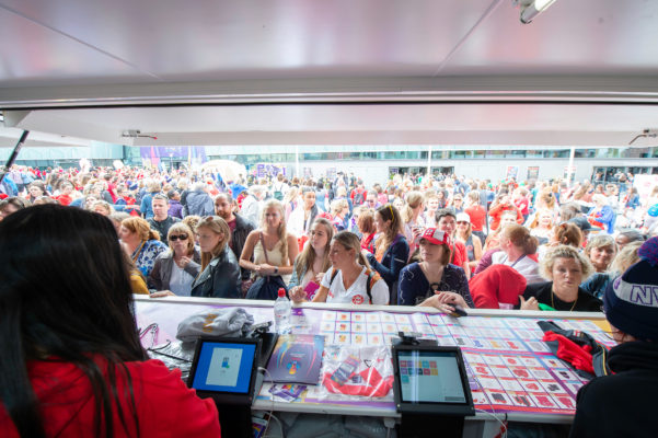Picture by Allan McKenzie/SWpix.com - 20/07/2019 - Netball - Vitality Netball World Cup - M&S Bank Arena, Liverpool, England - Merchandise stand, branding. | SWpix.com
