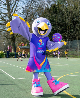 Picture by Allan McKenzie/SWpix.com - 26/03/2019 - Netball - Vitality Netball Worlde Cup Mascot Launch - St Albans High School Prep - Wheathampstead, St Albans, England - Netball World Cup Mascot Jude. | SWpix.com
