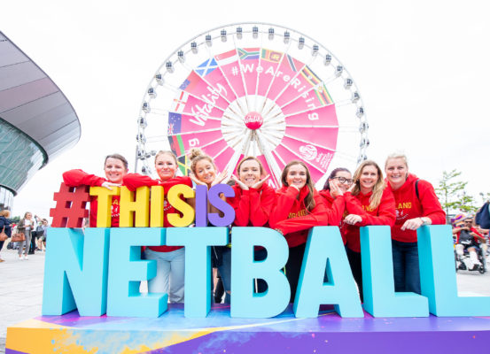 Picture by Allan McKenzie/SWpix.com - 20/07/2019 - Netball - Vitality Netball World Cup - M&S Bank Arena, Liverpool, England - England fans, supporters, Vitality, branding. | SWpix.com