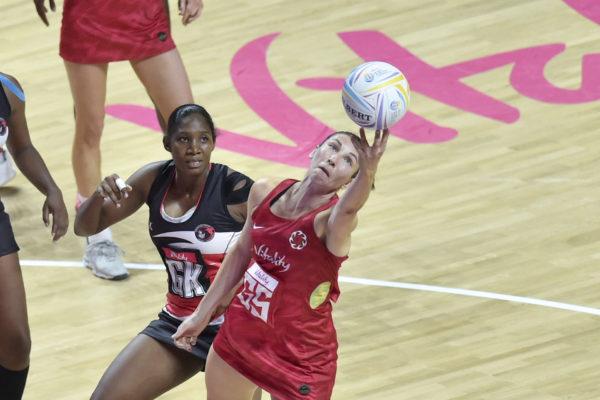 Picture by Allan McKenzie/SWpix.com - 17/07/2019 - Netball - Vitality Netball World Cup 2019 - Trinidad & Tobago v England - M&S Bank Arena, Liverpool, England - Rachel Dunn of England. | SWpix.com