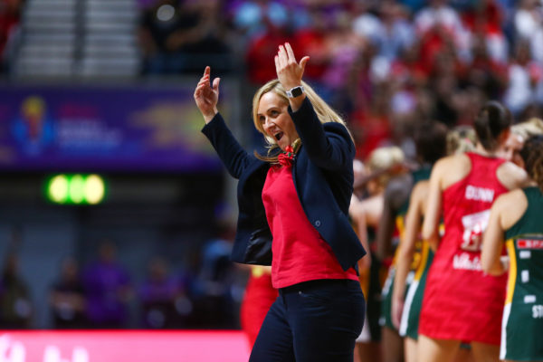 Picture by Alex Whitehead/SWpix.com - 21/07/2019 - Netball - Vitality Netball World Cup 2019 bronze medal match - England v South Africa - M&S Bank Arena, Liverpool, England - England head coach, Tracey Neville. | SWpix.com