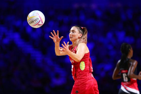 Picture by Alex Whitehead/SWpix.com - 17/07/2019 - Netball - Vitality Netball World Cup 2019 - Trinidad & Tobago v England - M&S Bank Arena, Liverpool, England - Jade Clarke of England. | SWpix.com