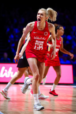 Picture by Alex Whitehead/SWpix.com - 20/07/2019 - Netball - Vitality Netball World Cup 2019 - England v New Zealand - M&S Bank Arena, Liverpool, England - Helen Housby of England. | SWpix.com