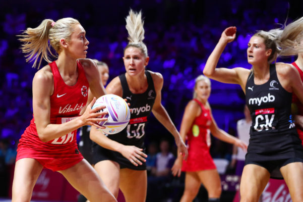 Picture by Alex Whitehead/SWpix.com - 20/07/2019 - Netball - Vitality Netball World Cup 2019 semi final - England v New Zealand - M&S Bank Arena, Liverpool, England - Helen Housby of England. | SWpix.com