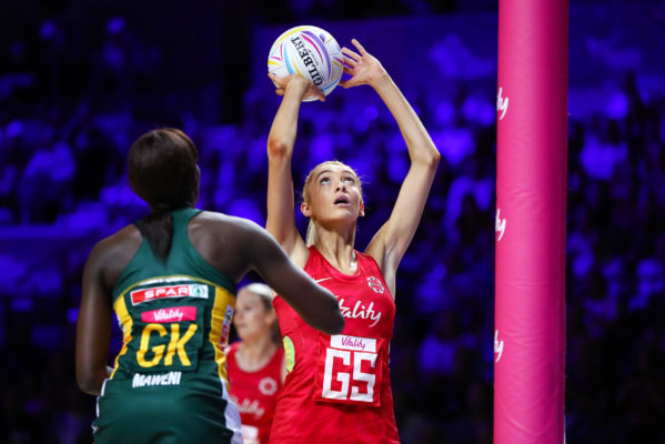 Picture by Alex Whitehead/SWpix.com - 21/07/2019 - Netball - Vitality Netball World Cup 2019 bronze medal match - England v South Africa - M&S Bank Arena, Liverpool, England - Helen Housby of England. | SWpix.com
