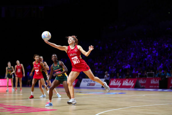 Picture by Alex Whitehead/SWpix.com - 21/07/2019 - Netball - Vitality Netball World Cup 2019 bronze medal match - England v South Africa - M&S Bank Arena, Liverpool, England - Jade Clarke of England. | SWpix.com