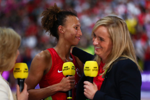 Picture by Alex Whitehead/SWpix.com - 21/07/2019 - Netball - Vitality Netball World Cup 2019 bronze medal match - England v South Africa - M&S Bank Arena, Liverpool, England - Serena Guthrie of England and Head coach of England, Tracey Neville. | SWpix.com