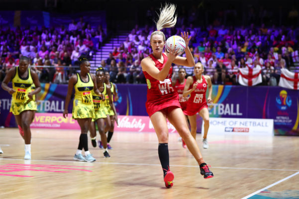Picture by Alex Whitehead/SWpix.com - 15/07/2019 - Netball - Vitality Netball World Cup 2019 - Jamaica v England - M&S Bank Arena, Liverpool, England - Chelsea Pitman of England. | SWpix.com